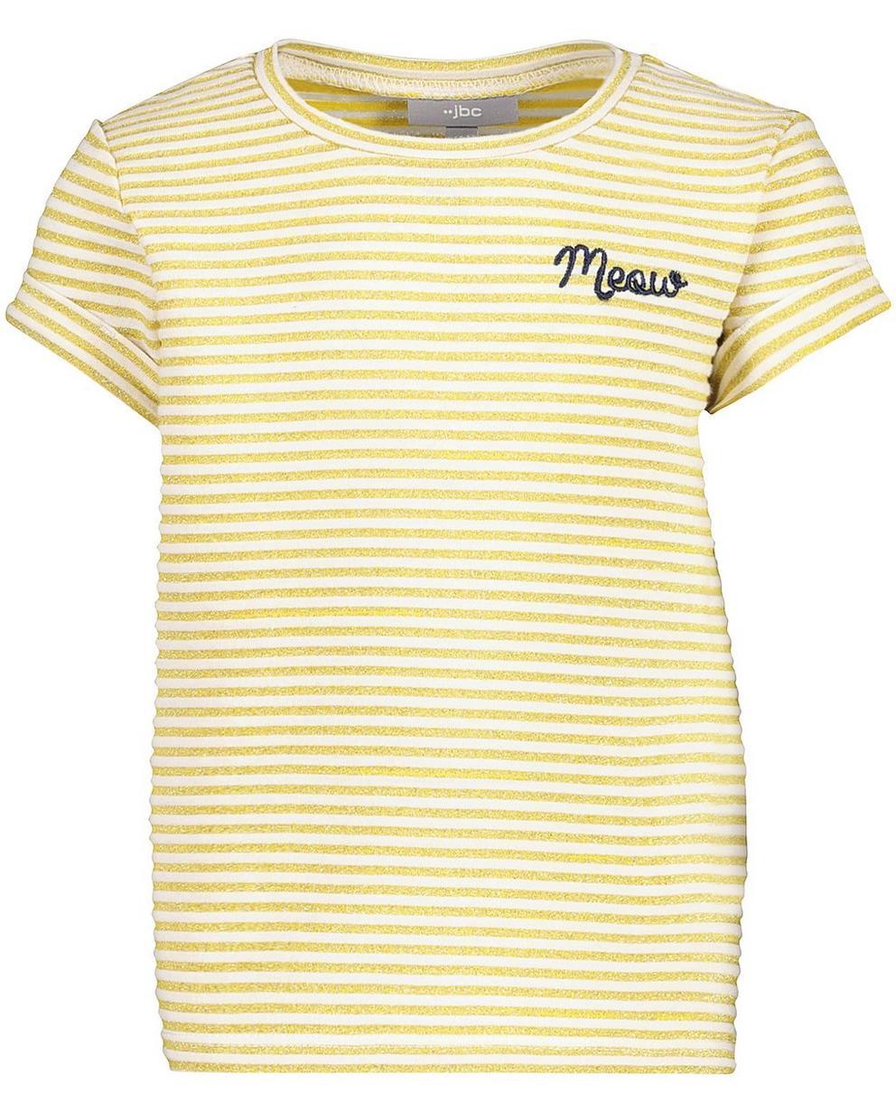 T-Shirts - AO1 - Gestreiftes T-Shirt mit Metallfaden